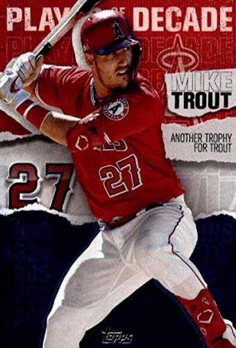 2020 Topps Player of the Decade #MT-18 Mike Trout Los Angeles Angels MLB Baseball Trading Card