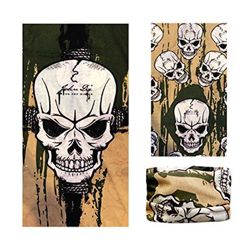 DODO - John Doe/Crânes de motard Cagoule Tube Tour de Cou Multifonction Sans Couture Écharpe Cache-cou Bandana Headwrap #02