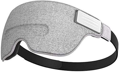 Bluetooth Schlafmaske, Smart-Schlafmaske Eingebaute Musik/Sounds,kabellose Verbindung zu den meisten Geräten mit EEG- und AI-Technologie, ideal für zu Hause und unterwegs