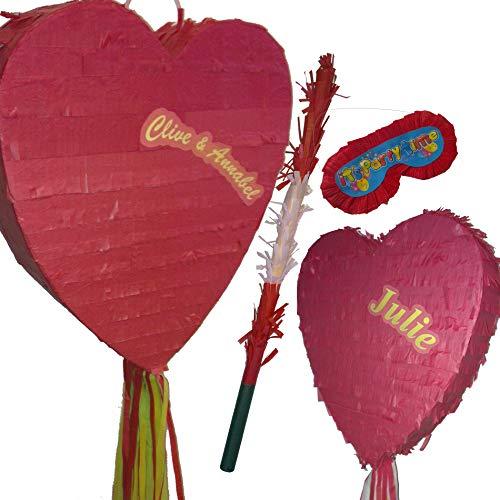 Herz Pinata Set für Hochzeit, Verlobung Ball oder Geburtstag Party