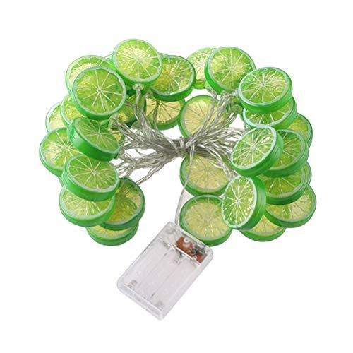 OSALADI Lime String Lights 3m 20 LEDs Batteriebetriebene Lime Lights Dekorationen für Terrasse Zaun Deck Balkon Camping - Batterien nicht enthalten