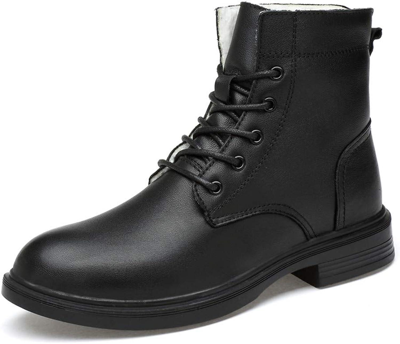 YAKIE -Boots, Män's Casual Comfortable and Soft High High High High Top Outole Boots (Warm Velvet fakultativt) Fashionable Ankle Boots (färg  Warm svart, Storlek  11.5 UK)  fabriksförsäljning