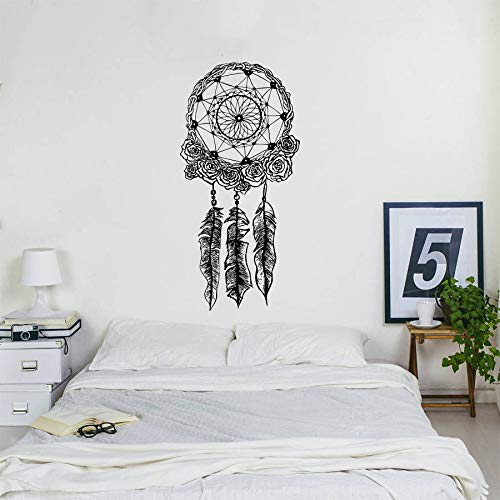 Bohemian Home Decor Dreamcatcher Wandtattoo Boho Bettwäsche Decor Wandaufkleber Dream Catcher Wand Poster Vinyl Kunst -114x56cm