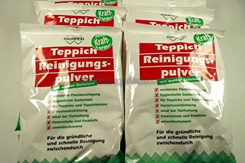 10 x Teppich Reinigungspulver mit je 500 Gramm für ca. 100-200 qm Teppichfläche - Made in Germany - mit frischen Zitrusduft