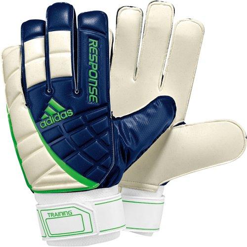 adidas - Guantes de fútbol para Hombre, tamaño S, Color Azul Marino/Blanco