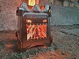 FieldForge Dragon XL - Hornillo de camping portátil y plegable, horno de madera, horno de hobo,...