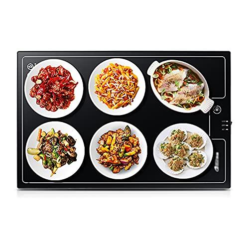 LLZH 230W Calientaplatos, Calentador Eléctrico de Alimentos, Placa Calefactora de Cocina/Oficina 55x35 cm, Mantenga la Comida Caliente, para Buffet, Partie, Cocina, 2 Temperatura Ajustable