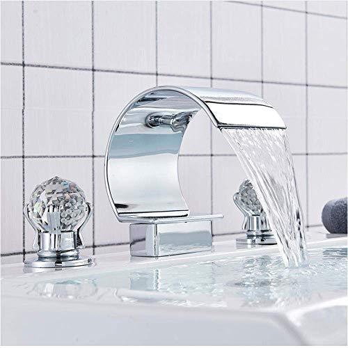 BXU-BG Grifo negro de bronce/cromo grifo de la bañera del grifo del lavabo del grifo del lavabo del grifo de la cascada de la bañera del grifo del baño y mezclador de agua fría