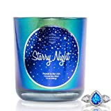 Fragrant Jewels Starry Night Jewel Candle with Collectible Rings (Size 5-10)