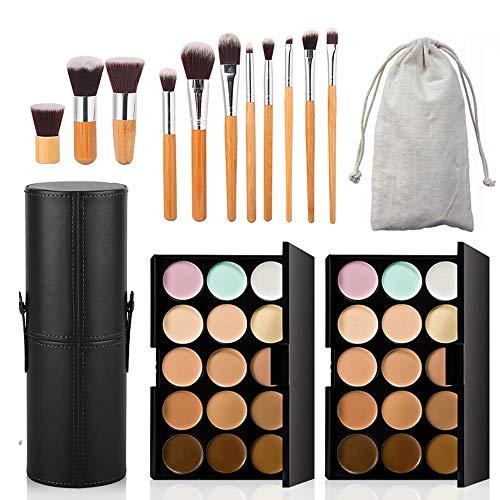 11 Stück Make Up Pinsel Professionelles Schminkpinsel Set mit Make-up Pinsel Aufbewahrung...