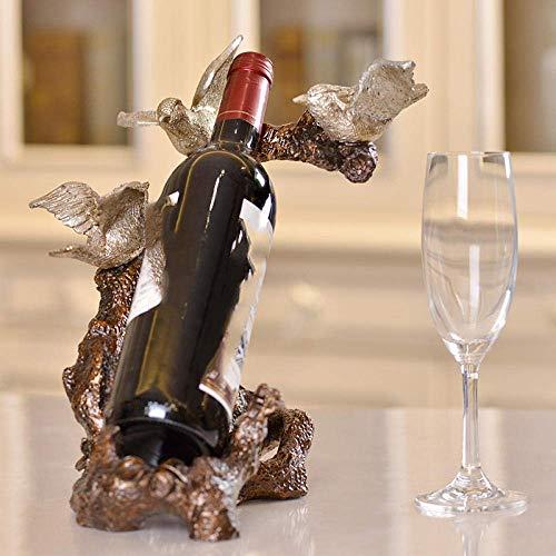 LKAIBIN Armario de vino de resina, estante de vino de resina, decoración suave