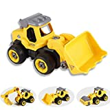 Tigerhu Bagger sandkasten Spielzeug, Elektrisches baufahrzeuge Spielzeug Set mit Kinder Bulldozer Straßenwalze Montage Modell, RC Bagger Spielzeugauto Ideale Lernspielzeug für Junge Mädchen