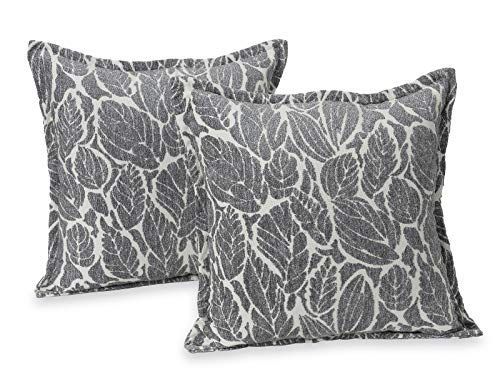 Klear Vu Katelyn Chenille Textured Flower Decorative Throw Pillows, Filled with CloudFill, 20