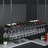 Botellero de Pared Botellero de hierro forjado   Botellero colgante   Estante para copas de vino de techo de metal ajustable   Estilo simple moderno   Decoración de la barra del restaurante de la co