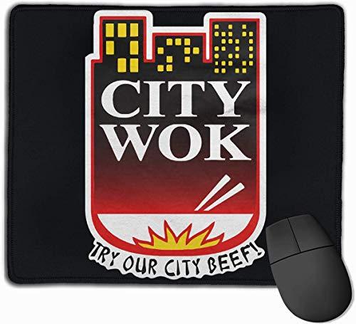 Mauspad mit Designs City Wok Mousepad Gaming Mauspad Naturkautschuk 25X30 cm