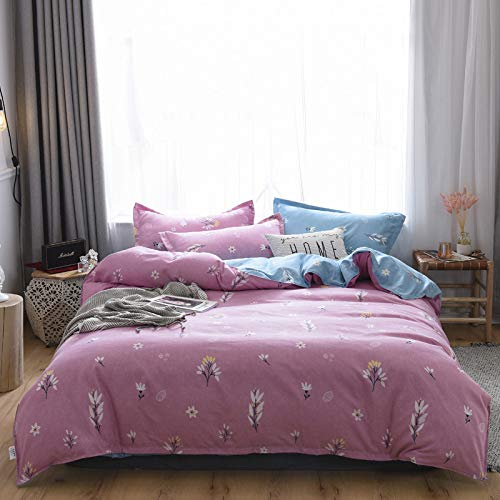 unknow Sheets, Thick Brushed Cotton Four-Piece Suit, Bedding Is All Cotton, Four-Piece Bed Linen And Duvet Cover