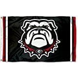 College Flags & Banners Co. University of Georgia Bulldogs Black Dawg Flag