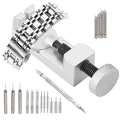 Uhrenwerkzeug Uhrenarmband Strap Kettenbolzen Remover - 24 tlg Edelstahl Armband Werkzeug Stiftausdrücker