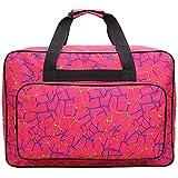 Fhdpeebu bolsa de transporte universal para máquina de coser bolsa de transporte y almacenamiento compatible con la mayoría de Singer, Brother, Janome estándar-38 x 25 x 18 cm (rojo vivo, pequeño)