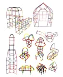 ISO TRADE Pajitas de bloques de construcción, juguete, pajita, juego creativo, juego educativo para niños, 408 piezas, 9098
