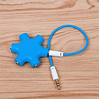 $25 » TXBH 3.5mm Audio Aux Cable Splitter 1 Male to 5 Female Headphone Port 3.5 Jack Share Adapter for Tablet MP3 MP4 Mobile Pho...