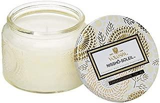 Voluspa Nissho Soleil Petite Embossed Glass Jar Candle, 3.2 Ounces