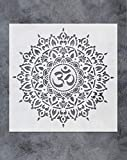 GSS Designs Om Mandala Stencil Template (12x12 Inch) - Painting Stencil for Wood Wall Furniture Floor Tiles Fabric(SL-063)