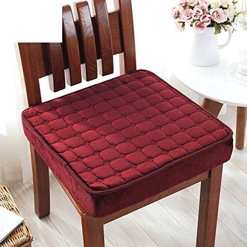 YLCJ Kussensloop van pluche, voor de winter, zitkussen van antislip badstof, voor kantoor, vulling met kant, tafelkleed - rood 40 x 40 cm