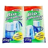 ORO fix Bio-Entkalker Pulver für Wasserkocher und Kaffeemaschinen, 2 x 25g