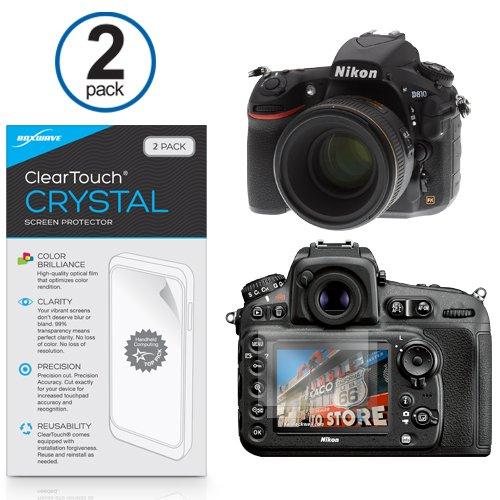 Nikon D810 Protector de pantalla, BoxWave® [ClearTouch Crystal (2 ...