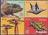 Prophila Collection Naciones Unidas - Ginebra 1004-1007 Bloque de Cuatro (Completa.edición.) 2017 en Peligro de extinción Especies (Sellos para los coleccionistas) Anfibios / Reptiles / Dinosaurio