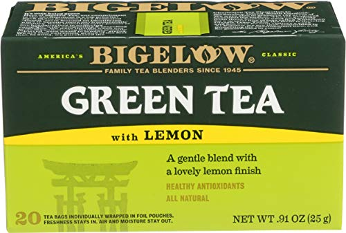 Bigelow, Green Tea With Lemon (Caffeinated), 20 Count