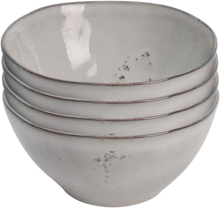 4 Pi/èces Bols /à C/ér/éales///à Soupe Vaisselle de Table en Gr/ès Gris 15cm Gla/çure R/éactive ProCook Oslo