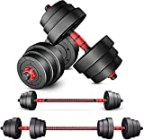 H&N Fashion Adjustable Weights Barbell Dumbbells Set for Weight Lifting Barbell Weights Set for Home Gym Weight Set Exercise Training Equipment 44lbs