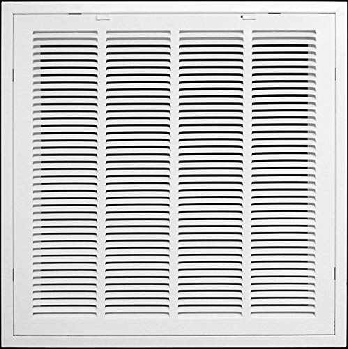 20' X 20' Return Air Filter Grille Filter Included - Removable Face/Door - HVAC Vent Duct Cover - White [Outer Dimensions: 21.75w X 21.75h]