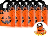 Bolsas de Halloween de Dulces de Plástico de Jack-O-Lantern Bolsa de Truco o Trato de Calabaza Naranja de Botín para Halloween, Favor de Fiesta, Bocadillo, Decoración, Arte y Artesanía de Niños, (100)