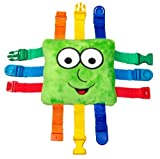 Buckle Toy - Buster Square - Learning Activity Toy - Develop Fine Motor Skills and Problem Solving - Easy Travel Toy