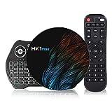Android 10.0 TV box [4G + 64G] con mini tastiera wireless, Android RK3318 a 64 bit con processore chip quad-core, doppio Wi-Fi 5G / 2.4G, set-top box, smart TV box