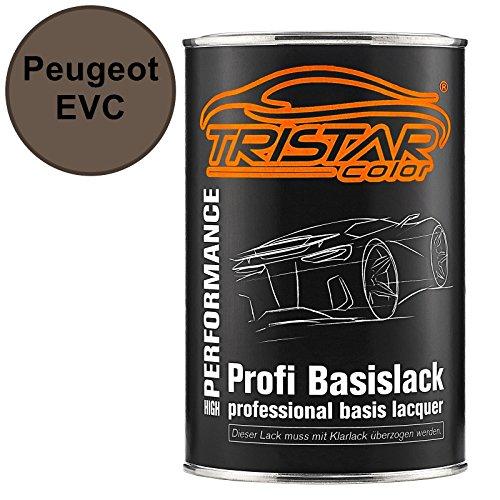 TRISTARcolor Autolack Dose spritzfertig für Peugeot EVC Brun Sierra Basislack 1,0 Liter 1000ml