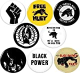 Black Panther Party #1 8 NEW 1 Inch (25mm) Set of 8 BLACK LIVES MATTER Buttons Badges Pins 1