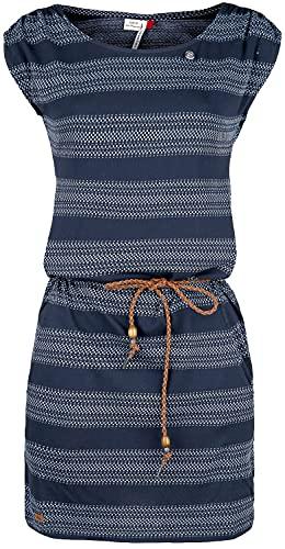 Ragwear Damen Chego Jerseykleid blau L
