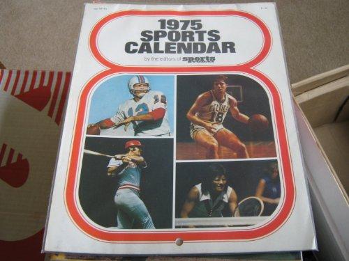 1975 Sports Calendar By Sports Today (Larry Csonka , Dick Allen , Walt Frazier , Johnny Bench , Bobby orr , Jabbar , Staubach , Rose , Griese , Billie jean King , Dave Cowens, 1975)