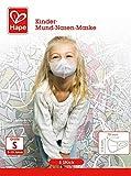 Hape Z9301 – Kinder Mund- und Nasenmaske, 5 Einwegmasken, 115x79mm, weiß, Schutzstufe FFP 1