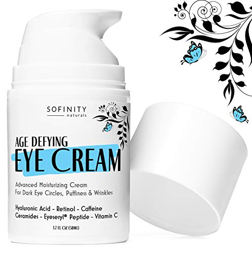 51FohvPbLZL - Eye Cream Anti Aging Bags & Dark Circle - Under Eye Cream - Dark Circles under Eye Treatment for Women / Men - Eye Cream for Dark Circles and Puffiness - With Retinol, Caffeine, Vitamin C, by Sofinity
