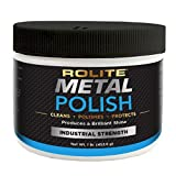 Rolite - RMP1# Metal Polish Paste - Industrial Strength Scratch Remover and Cleaner, Polishing Cream for Aluminum, Chrome, Stainless Steel and Other Metals, Non-Toxic Formula, 1 Pound, 1 Pack