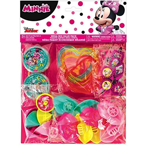 "Disney Minnie Mouse Birthday Party Favours Set (48 Pack), Multi Color, 11 1/4"" x 8 1/4"" (Assorted)"