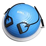 Amazon Brand - <span class='highlight'><span class='highlight'>Umi</span></span> - Blance Trainer Air Dome Ball with 2 Elastic Strings Handy Pump Balance Board for Strength and Balance Training 60cm in Black Pruple Blue