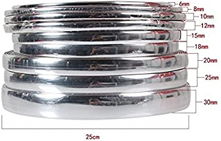 ATMOMO 6mm Silver Soft PVC Chrome DIY Moulding Line Car Decorating Line Trim Strip