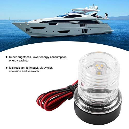 Akozon LED Boat Light,Navigation Signal Light,Signal Light,Signal Lamp 360° LED Waterproof Boat Navigation Anchor Light 12V White