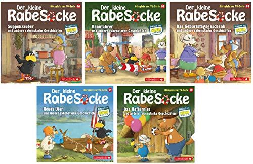 Der kleine Rabe Socke - Das Hörspiel zur TV-Serie / CD 6-10 (6+7+8+9+10) im Set - Deutsche Originalware [5 CDs]